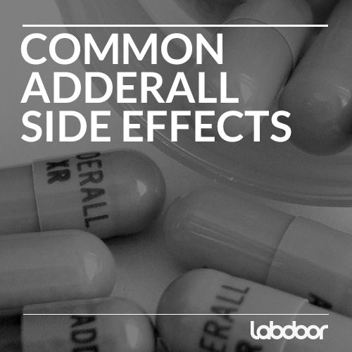 Common Adderall Eide Effects