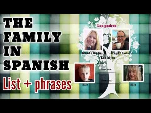 The family in Spanish: a list of family members + simple sentences
