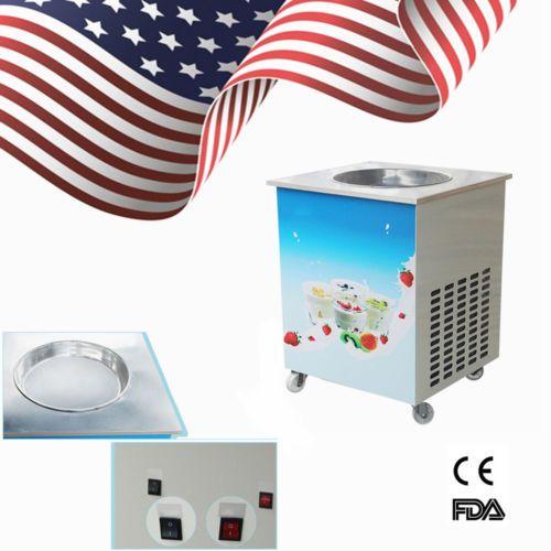 USA Commercial Single Round Pan Fried Ice Cream Roll Machine Milk Yogurt Machine