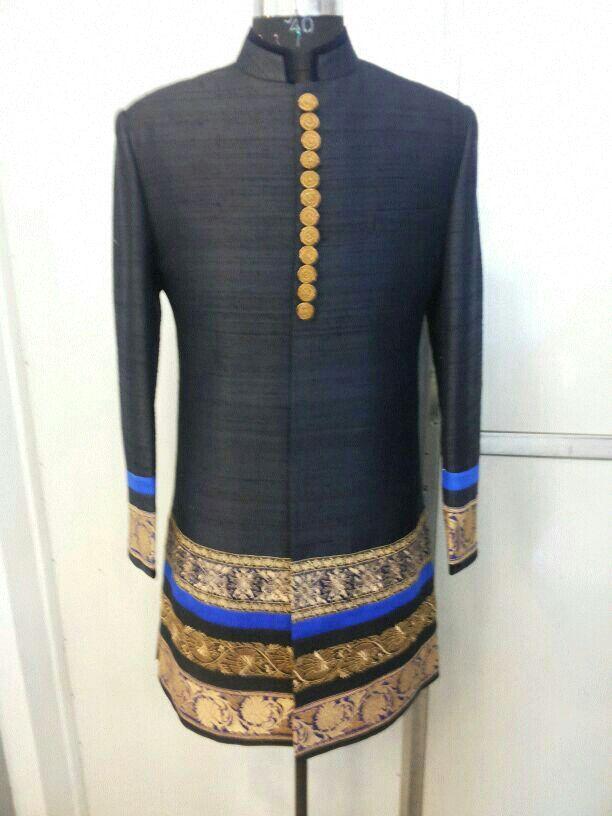 Designer Hand Embroiderd Traditional Sherwani.