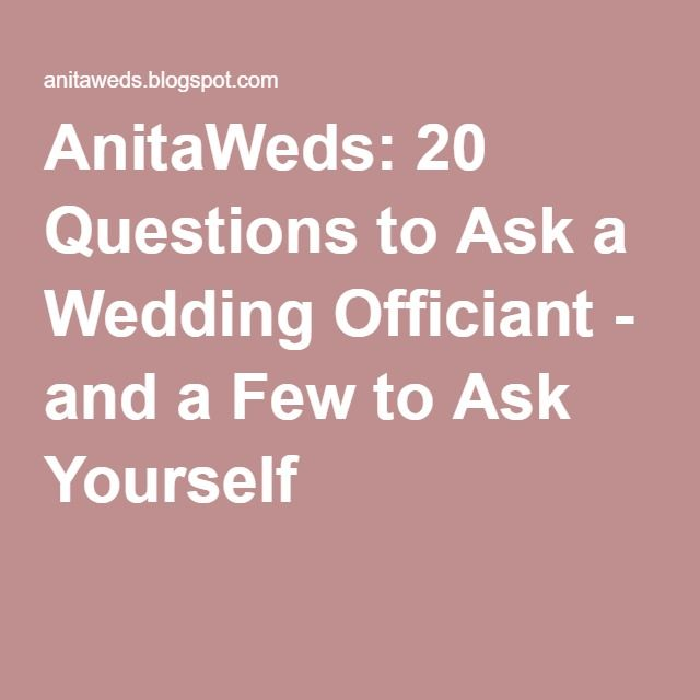 how to ask your pastor to be officiant a wedding
