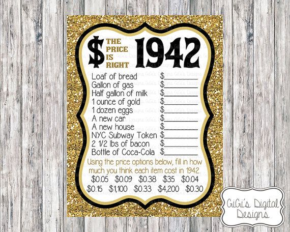 Custom The Price Is Right 1942 Game by GiGisDigitalDesigns on Etsy