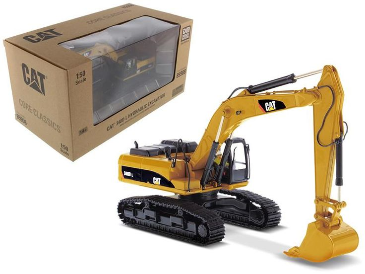 CAT Caterpillar 340D L Hydraulic Excavator with Operator Core Classics Series 1/50 Diecast Model by Diecast Masters