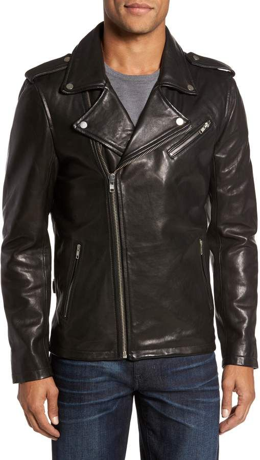 f5fb2e63474 LAMARQUE Leather Biker Jacket | Mens Leather And Suede Coats in 2019