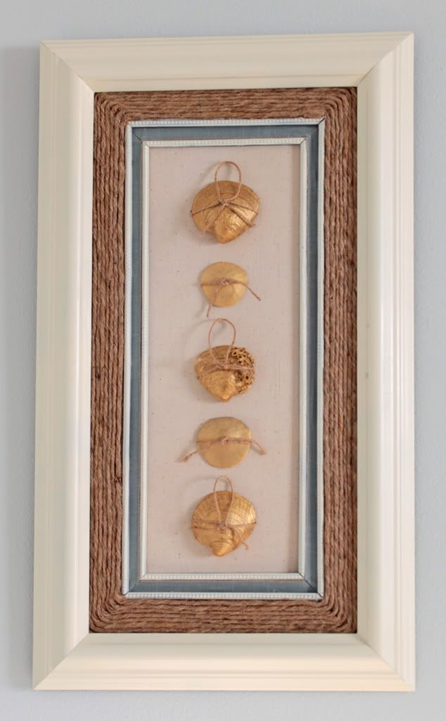 Seashell art:  Medicine Cabinets, Nautical Decor, Seashells Diy, Diy Wall Art, Master Bedrooms, Seashell Art, Diy Wall Decor, Rooms Colors, Seashells Art
