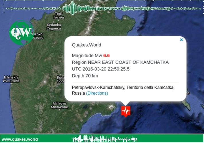 #earthquake #quake #Russia An earthquake was recorded near East Coast of Kamchatka
