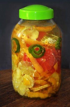 Nalewka 4 cytrusy - pomarańczowo grejpfrutowo cytrynowo limonkowa