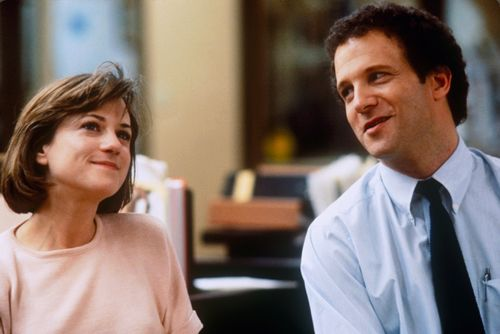 """Aaron Altman (Albert Brooks, right) from the 1987 film """"Broadcast News"""": """"Wouldn't this be a great world if insecurity and desperation made us more attractive? If 'needy' were a turn-on?"""""""