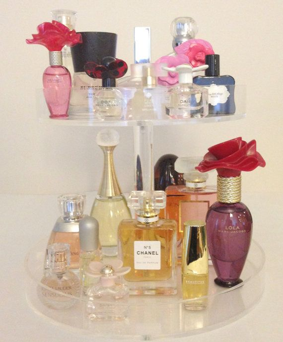 Clear Acrylic Makeup Organizer Perfume by AcrylicOrganizers