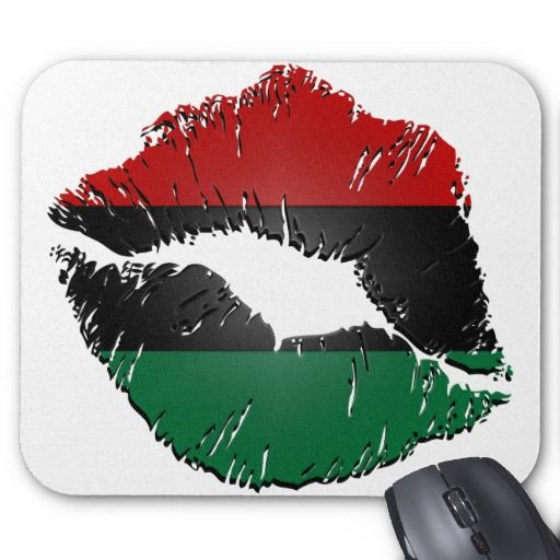 African American Flag | African American Flag Lips Mousepad from Zazzle.com