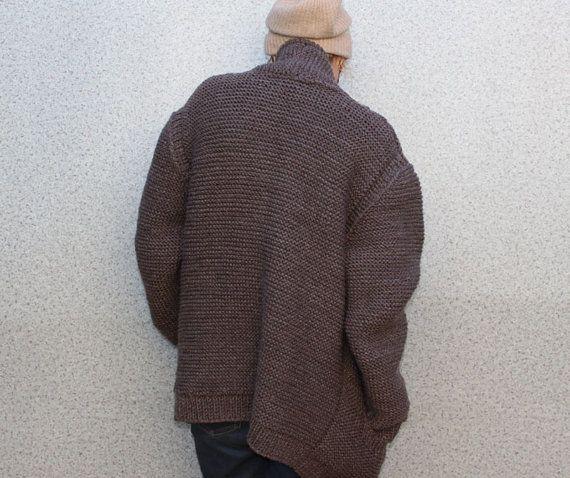 MADE TO ORDER mannen hand gebreide vest hooded door BANDofTAILORS