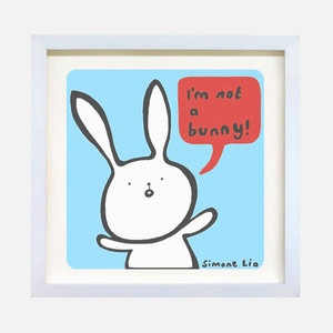 Druck I'm Not A Bunny Blau