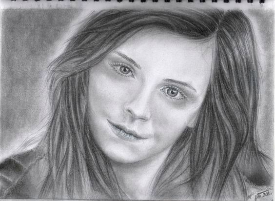 Jano S. - Emma Watson kreslené ceruza + gioconda A4 - 2017