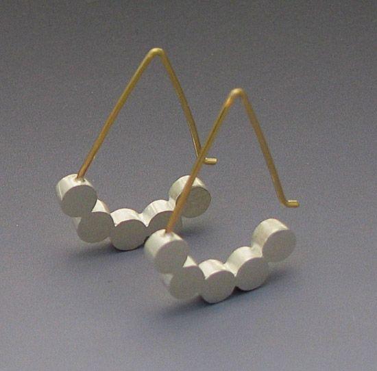 """""""Five Dot Earring"""" Silver Earrings  Created by Elisa Bongfeldt"""