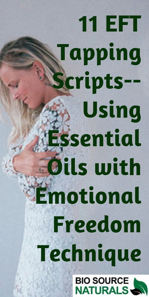 Download 11 EFT Tapping Scripts.  Emotional Freedom Technique is enhanced with essential oils. EFT tapping scripts teach you how to easily release and repattern negative emotions using tapping and essential oils. Let go of negative feelings the no tears, no therapy way!