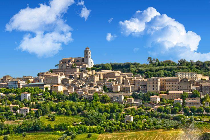 Fermo the pre-Roman town in Le Marche Region of Italy