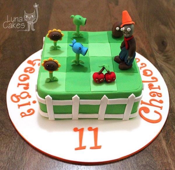Plants Zombies Cake