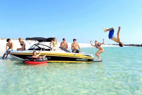 The good life: Crab Island, Santa Rosa Beach, Florida. Photo: Thomas Gustafson