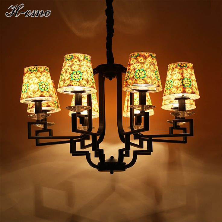 260.99$  Watch here - http://ali9h1.worldwells.pw/go.php?t=32783234207 - Mediterranean Chandelier Soft Ceramic Restaurant Art Painting Lights Cozy bedroom lights Romantic LED Living room lights H-ome
