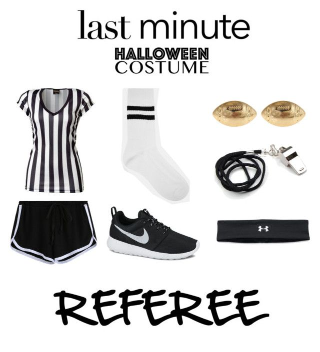 """Last Minute Halloween Costume: Referee"" by smile-2 ❤ liked on Polyvore featuring ASOS, Fornash, NIKE and Under Armour"