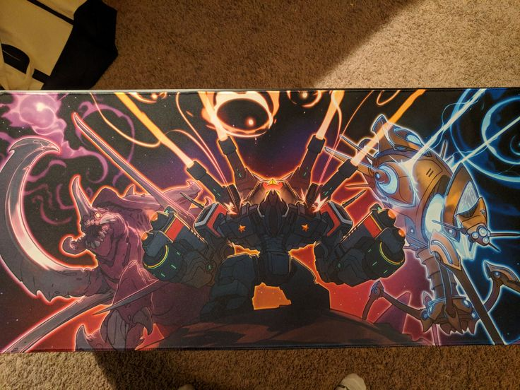 My custom mouse pads of the best game ever just got here today! #games #Starcraft #Starcraft2 #SC2 #gamingnews #blizzard
