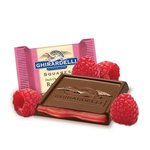 Ghirardelli Squares Dark Chocolate with Raspberry Filling