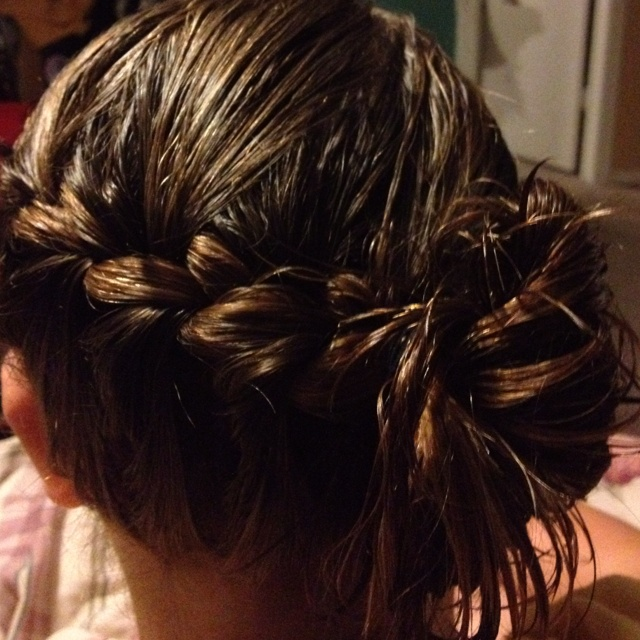 So simple I did it while her hair was wet :)