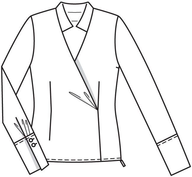 Картинки пошив манжета женской блузки
