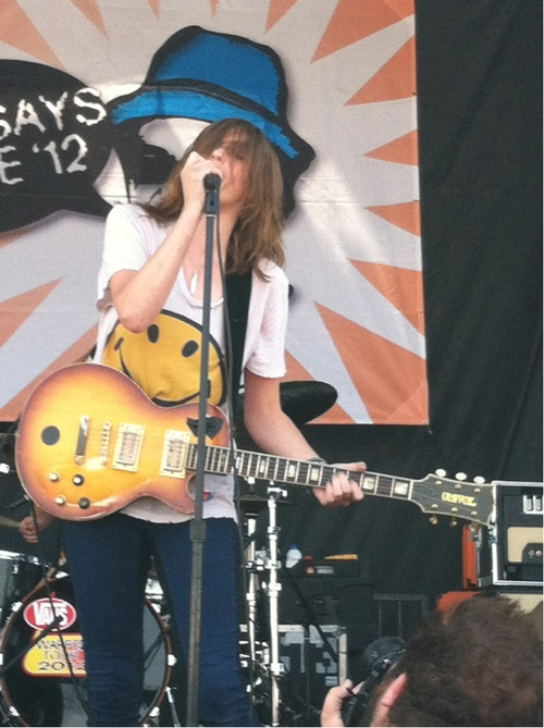 Emily Armstrong from the band DeadSara.