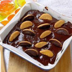 Jaffa cake brownies
