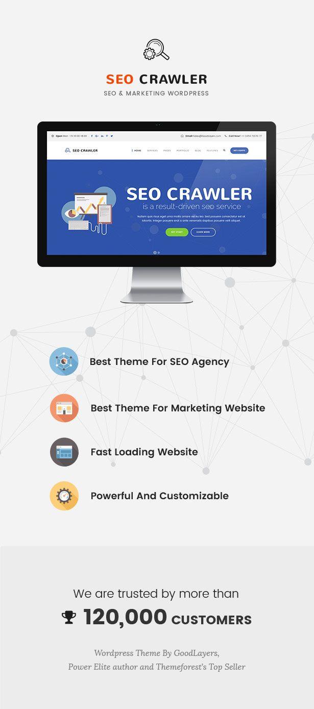 SEO Crawler - Digital Marketing Agency, Social Media, SEO WordPress Theme Download @mywpthemes_xyz