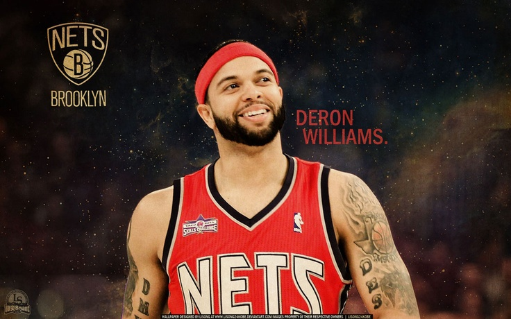 Deron Williams as Brooklyn Nets player... Source: http://www.basketwallpapers.com