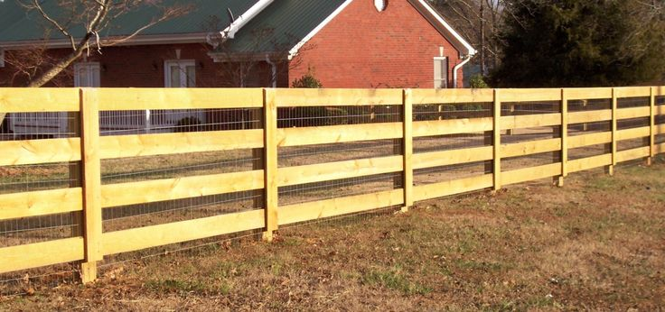Custom Wood 4 Rail Ranch Rail Fence By Mossy Oak Fence Great For Containing Livestock And Or
