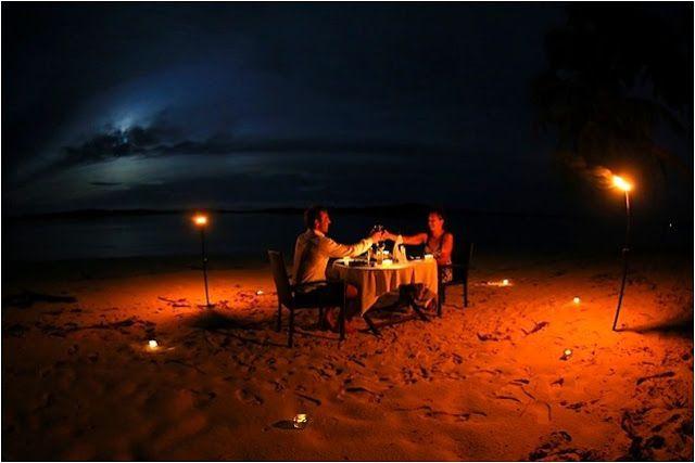 Plajda romantik bir doğum günü