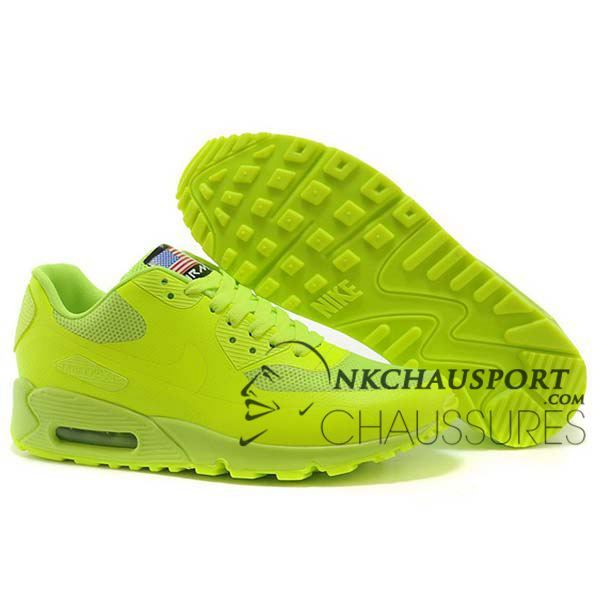 Nike Air Max 90 2016 | Meilleur Chaussures Running Homme Vert-6