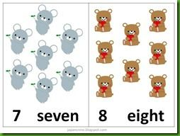 Counting cards printable [counting 1-10]