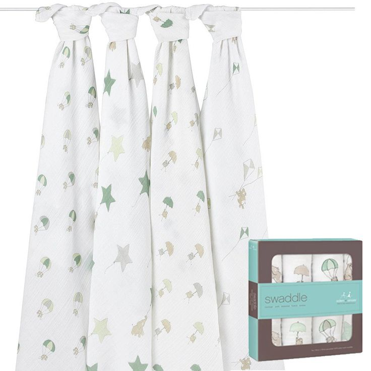 Up, Up & Away 4 pack Muslin Set - Swaddles - Baby Belle