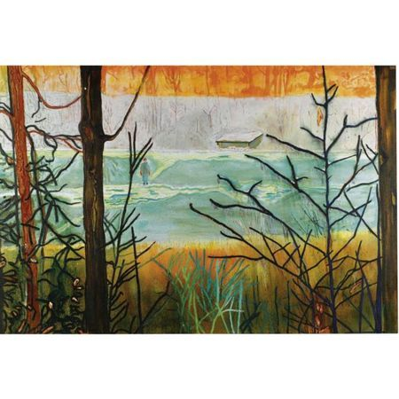 Peter Doig (b. 1959), Almost Grown, oil on canvas, 200 by 295cm