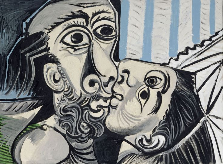 """Pablo Picasso, """"Le baiser"""", (1969) © RMN-Grand Palais (musée Picasso de Paris)…"""