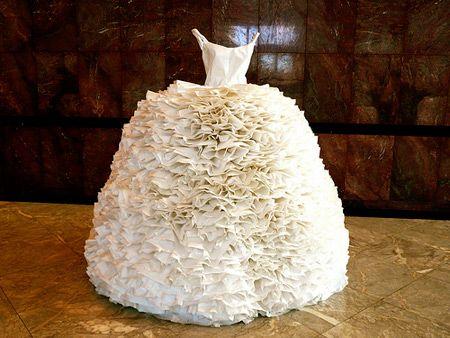 Wedding Dress made of... paper
