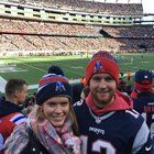 nice Saved up all year to go to my first pats game with my girlfriend! Go Pats!!