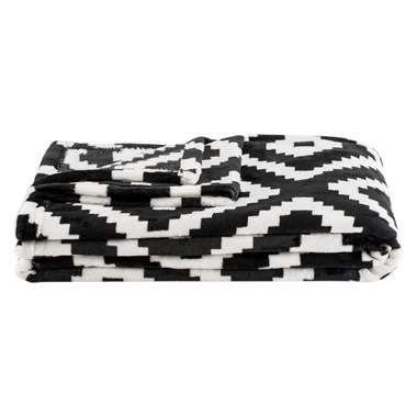 Plaid Robin - zwart/wit - 130x170 cm
