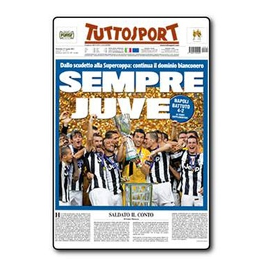 Juve Calamita Supercoppa.