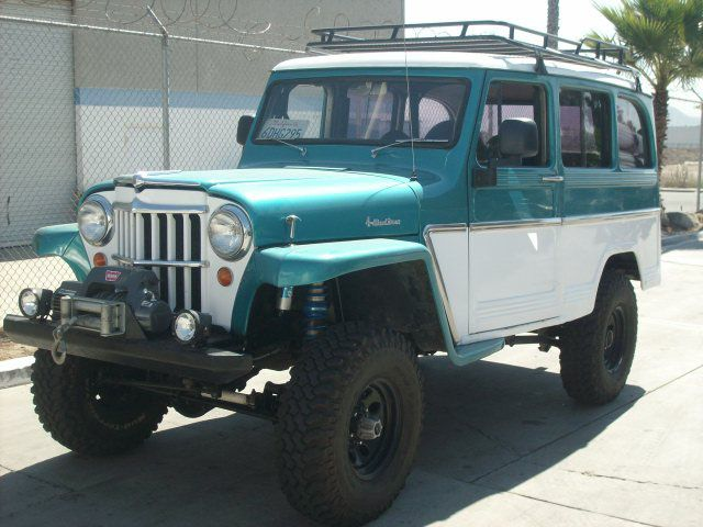 1964 Willys Wagon for sale. It has custom coil-over suspension, locker, 5.3 Vortec engine.