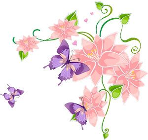 Pink Flowers and Purple Butterflies Auction Template For Free