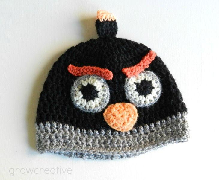 Black Angry Bids Hat