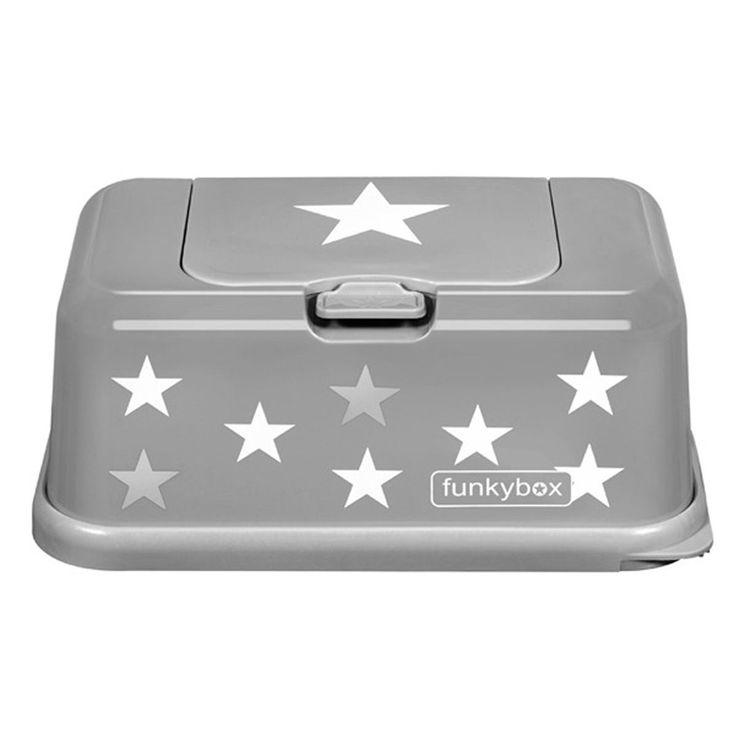 Feuchttücherbox Funkybox grau mit Stern von Funkybox. Jetzt online für 14,90€ kaufen bei Little Roomers.
