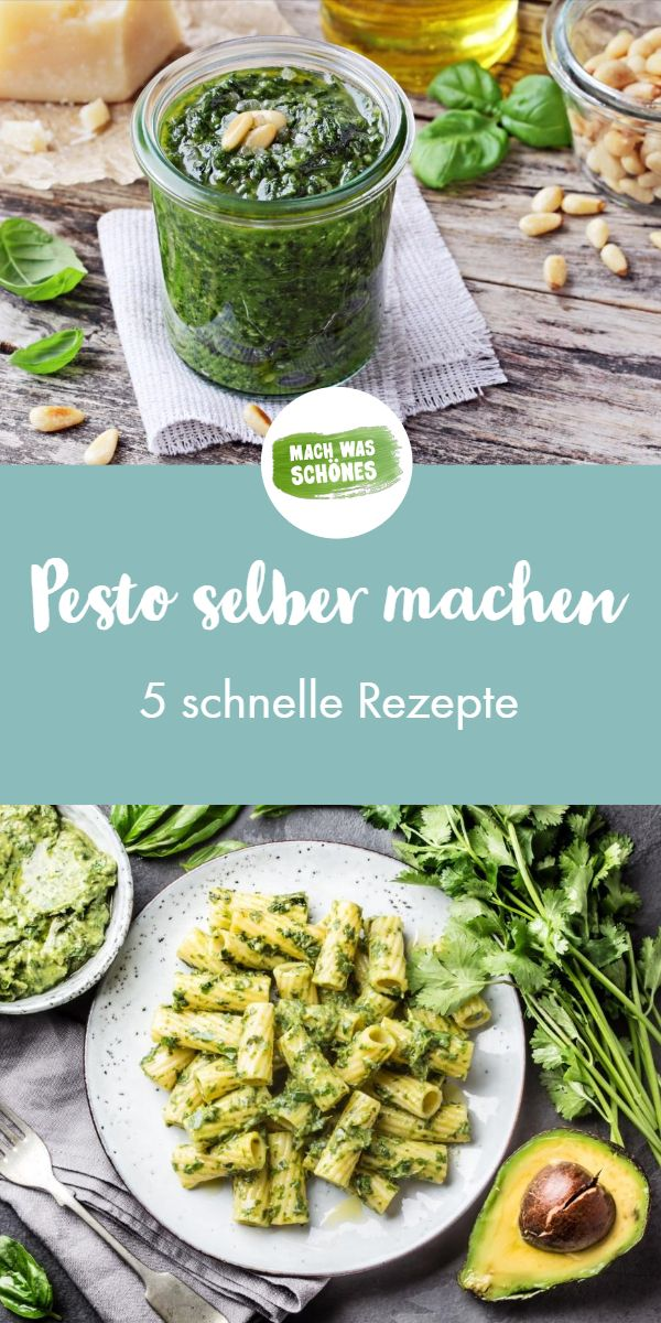 Pesto selbst machen – 5 Pesto Rezepte