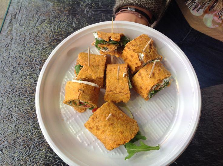 Una gustosissima ed innovativa piadina al pomodoro by @golosomangiarsa  Realizzata durante lo show cooking a #OroRosso