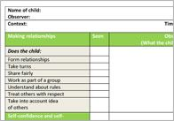EYFS Observation/Assessment Templates